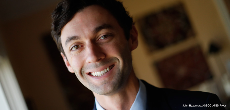 In this Feb. 10, 2017, photo, Democratic candidate for Georgia's 6th congressional district Jon Ossoff poses for a portrait in Atlanta.