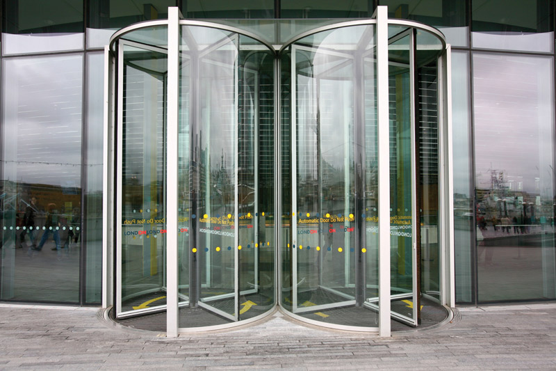 Double Revolving Doors. Image shot 2008. Exact date unknown.